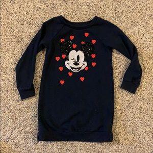 Gap Mickey Mouse sequin sweatshirt dress